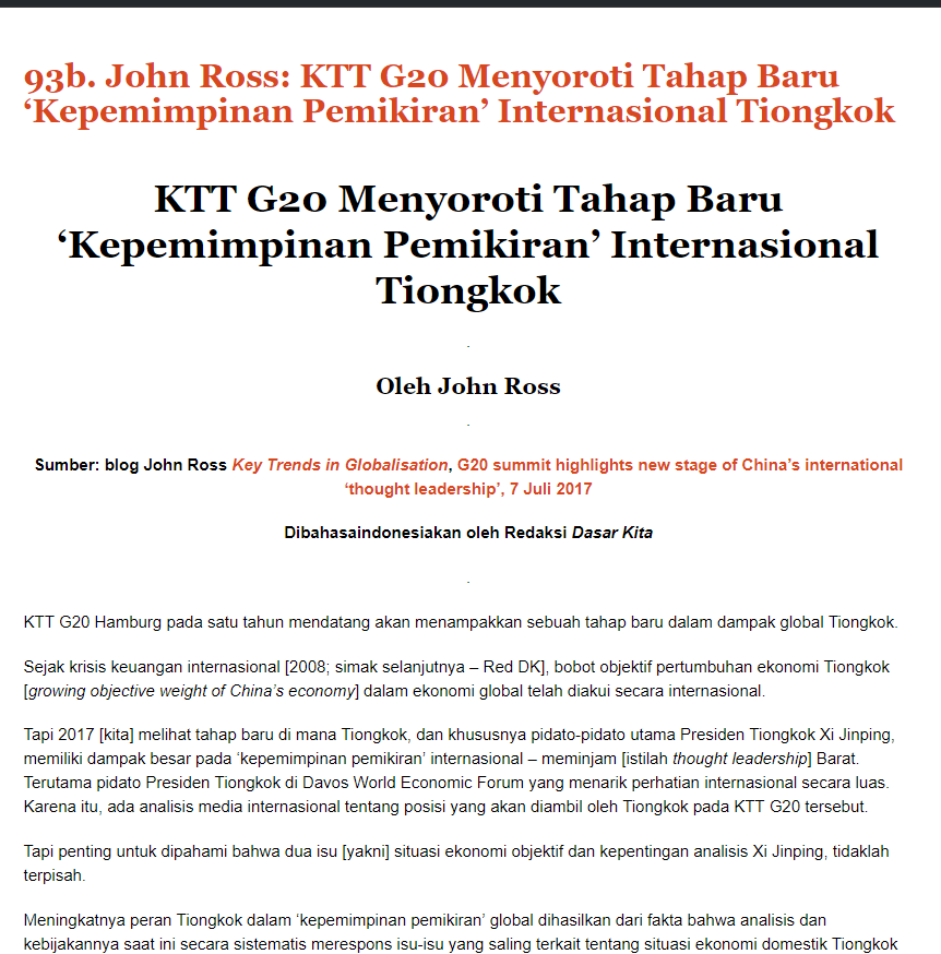 17 07 15 Indonesian of G20 shows China thought leadership
